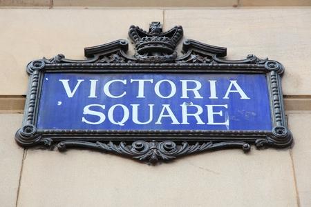 midlands: Birmingham - Victoria Square sign. West Midlands, England.