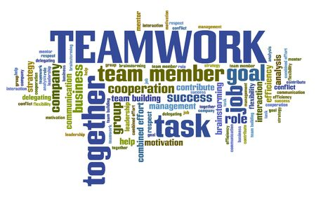 flexible business: Company team work issues and concepts word cloud illustration. Word collage concept.