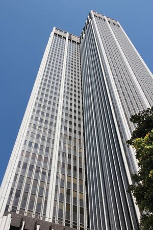 irs: LOS ANGELES, USA - APRIL 5, 2014: 611 Place skyscraper in Los Angeles. Tenants of the building include Social Security Administration and Internal Revenue Service (IRS).