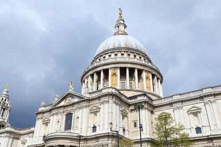 London, UK. Saint Pauls Cathedral - Church of England. Stock Photo