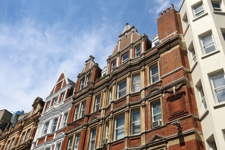 city of westminster: London, UK - residential architecture at Irving Street, City of Westminster. Stock Photo