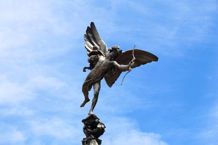 eros: London, UK - Eros statue at Piccadilly Circus.