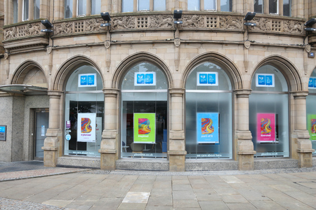 plc: SHEFFIELD, UK - JULY 10, 2016: Yorkshire Bank branch in Sheffield, Yorkshire, UK. The bank is owned by CYBG plc. Editorial