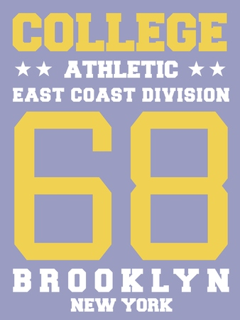 sports jersey: College sports team jersey design - athletic t-shirt. East coast - Brooklyn, New York.