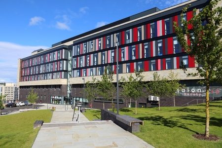 BRADFORD, UK - JULY 11, 2016: Bradford College in the UK. Bradford College was established in 1832. It has circa 25,000 students. Editorial