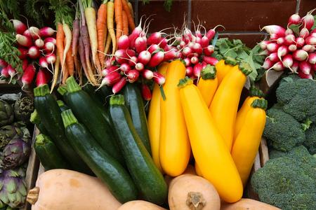 uk cuisine: Organic produce - vegetable shop in London, UK.
