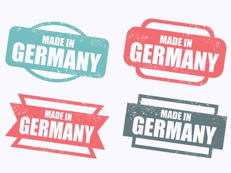 made in germany: Made in Germany - grunge stamp isolated. Illustration