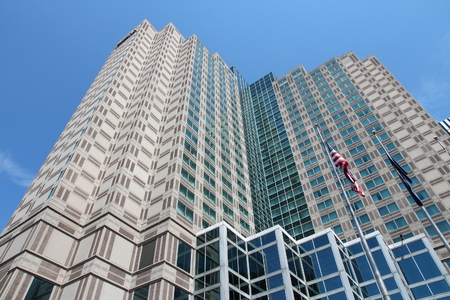 operated: PITTSBURGH, USA - JUNE 29, 2013: Exterior view of Westin hotel in Pittsburgh. As of 2013 Westin operated almost 200 hotels. It is part of Starwood Hotels and Resorts Worldwide.
