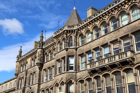 centenary: Huddersfield, UK - town in Kirklees region of West Yorkshire. Old architecture.