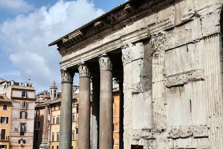 pantheon: Pantheon church in Rome, Italy. Ancient Roman landmark.