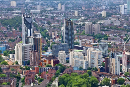 southwark: London, UK - aerial view Stock Photo