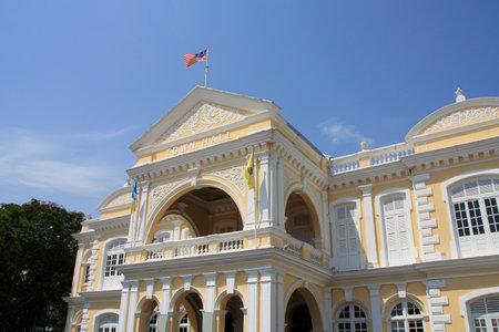 pinang: George Town, island of Penang, Malaysia. Town Hall. Editorial