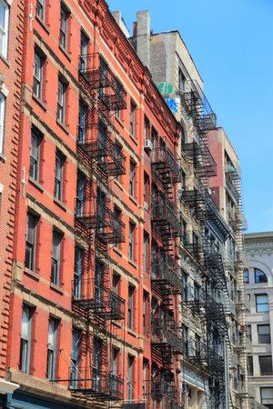old new york: SoHo neighborhood in New York. Old architecture.