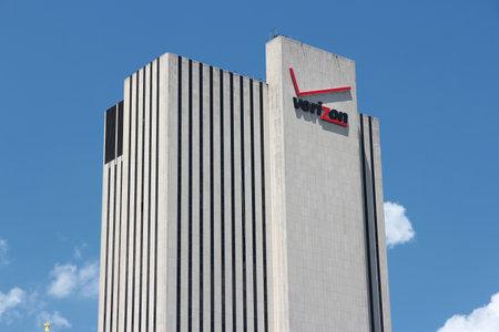 broadband: NEW YORK - JULY 5, 2013: Verizon building in New York. Verizon is a large American broadband and telecommunications company with 110.9 billion USD in revenue (2011). Editorial