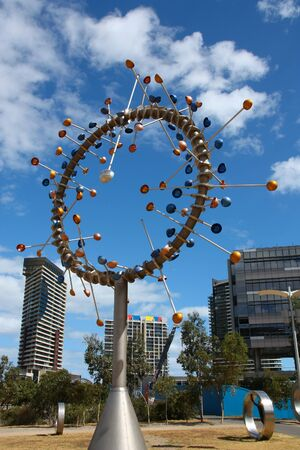 australasia: MELBOURNE, AUSTRALIA - FEBRUARY 9, 2008: Blowhole - modern sculpture in Melbourne, Australia. The art piece was designed by Duncan Stemler.