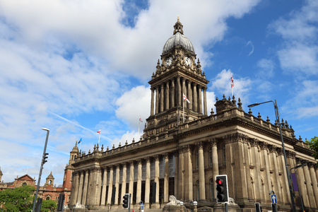Leeds - city in West Yorkshire, UK. City Hall building. Stock Photo