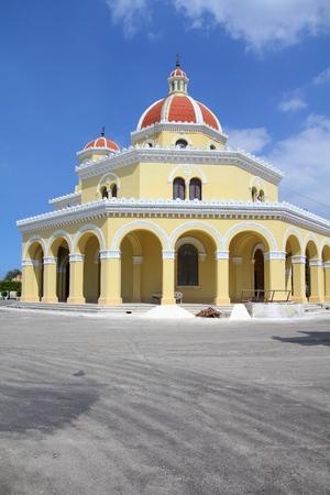 cristobal: Cuba - the main cemetery of Havana. Chapel at Necropolis Cristobal Colon. Stock Photo