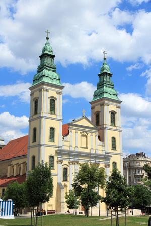 inner city: Inner City Parish Church (Belvaros Church) in Budapest, Hungary.