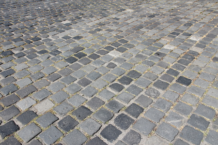 cobbles: Cobbled square backgrond - cobbles pattern in Budapest, Hungary.