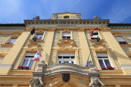obuda: Budapest, Hungary - town hall building of Obuda district.