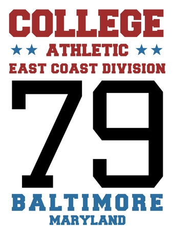 sports jersey: Sports team jersey design - athletic t-shirt. East coast - Baltimore, Maryland. Illustration