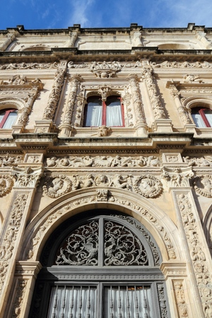 Seville, Spain - Plateresque style architecture of Casa Consistorial (City Government building).