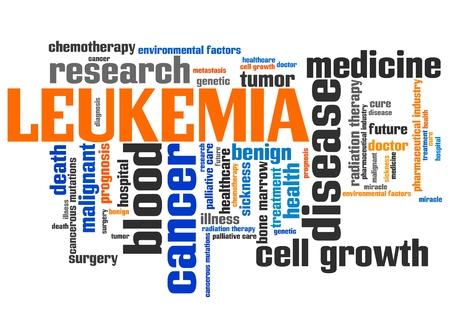 leucemia: Leucemia palabra concepto de collage. tratamiento contra el cáncer una enfermedad grave.