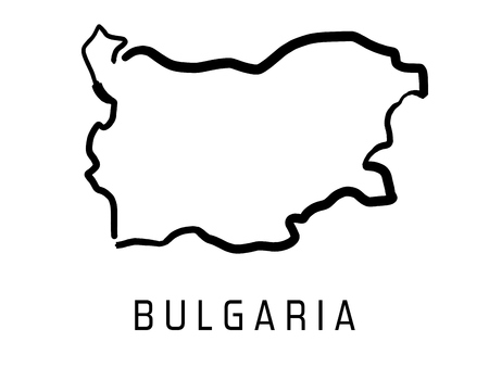 Bulgaria map outline - smooth country shape map vector.