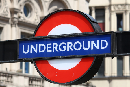 LONDON, UK - JULY 7, 2016: London Underground station sign in London. London Underground is the 11th busiest metro system worldwide with 1.1 billion annual rides.