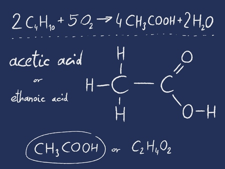 chemistry lesson: Acetic acid (ethanoic acid) - organic chemistry lesson.