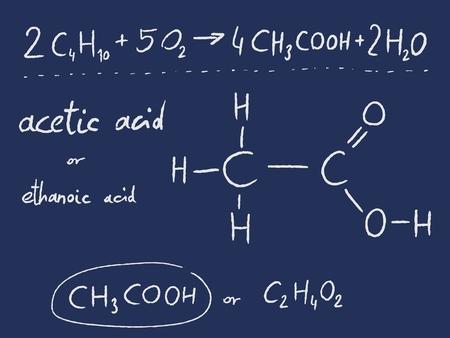 ácido: El ácido acético (etanoico) - lección de química orgánica.