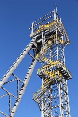 Industrial structure - coal mine shaft. Currently a historic monument in Siemianowice Slaskie, Poland.