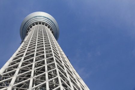 TOKYO, JAPAN - NOVEMBER 30, 2016: Skytree tower in Tokyo, Japan. The 634m tall broadcasting tower is the 2nd tallest structure in the world.