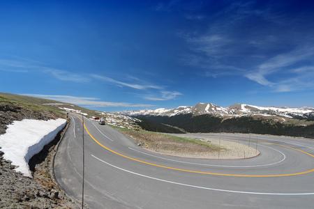 rocky mountains: Trail Ridge Road in Rocky Mountains, Colorado, USA. Stock Photo