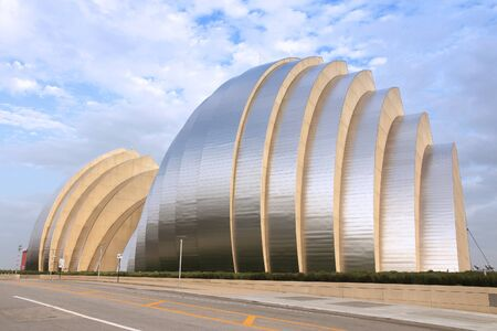 performing arts: KANSAS CITY, USA - JUNE 25, 2013: Kauffman Center for the Performing Arts building in Kansas City, Missouri. Famous building was completed in 2011 and is an example of Structural Expressionism.