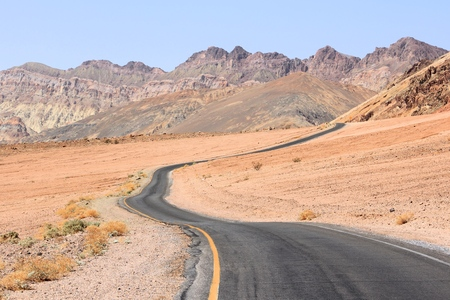 Artist Drive in Death Valley National Park, California, USA. Stock Photo