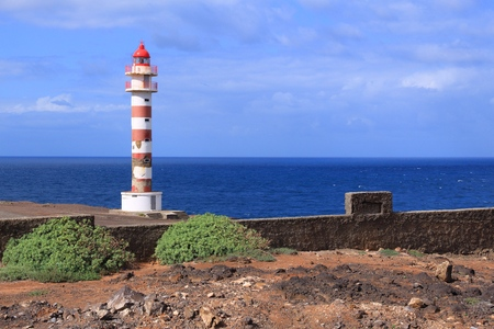 navigational light: Gran Canaria lighthouse - Punta Sardina landmark beacon.