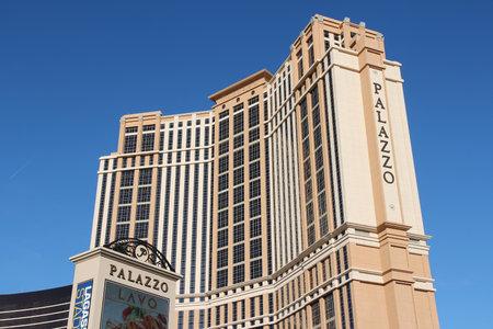 LAS VEGAS, USA - APRIL 14, 2014: The Palazzo resort in Las Vegas. The 3,068 room resort is owned by Las Vegas Sands company.