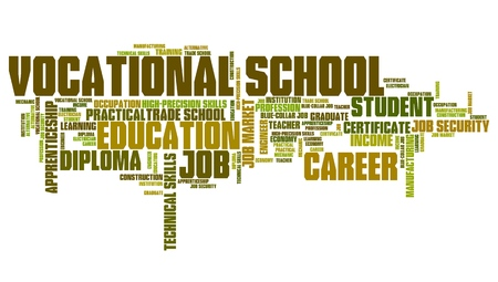 keyword: Vocational school word collage - technical occupation education.