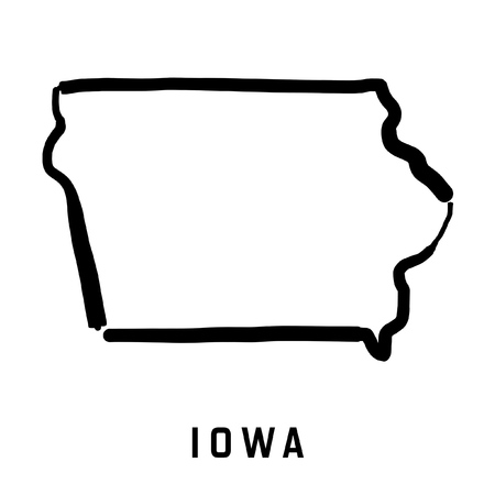 Iowa Map Vector Cliparts Stock Vector And Royalty Free Iowa - Iowa state on a us map
