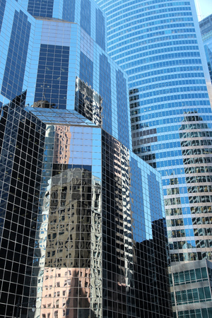 CHICAGO, USA - JUNE 28, 2013: Citigroup Center skyscraper in Chicago. The building was designed by Murphy Jahn architecture company. Orbitz Worldwide is among its tenants.
