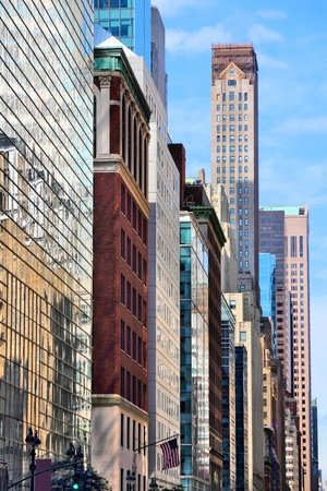 New York - Madison Avenue skyline. United States city view. Stock Photo