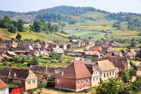 biertan: Romania countryside. Biertan village in Transylvania region. Stock Photo