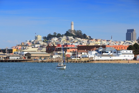 San Francisco, California, United States - city skyline with Telegraph Hill.