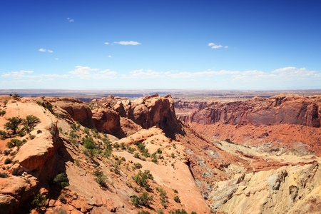 Upheaval Dome crater in Canyonlands National Park, Utah, USA.