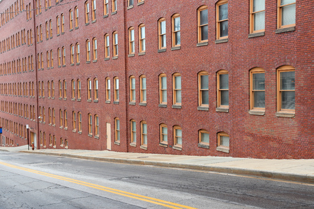 oh: Warehouse District in Cleveland, Ohio. US city. Stock Photo