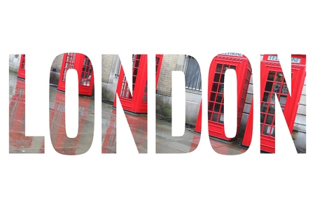London, UK - travel postcard word sign. City name text.