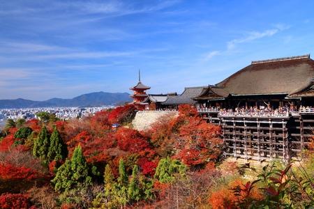 Kyoto, Japan - Kiyomizudera Temple in autumn.