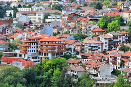 Veliko Tarnovo in Bulgaria. Old town located on three hills. Stock Photo