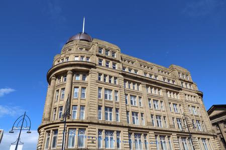 britannia: Bradford, city in West Yorkshire, England. Britannia House governmental building. Stock Photo